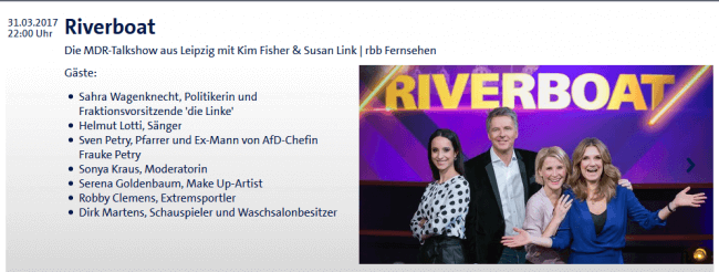 Robby Clemens beim MDR – Riverboat